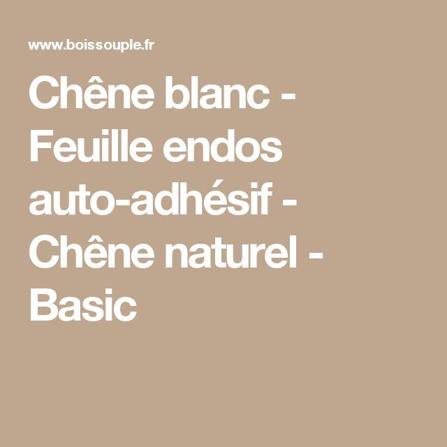 Chêne blanc - Feuille endos auto-adhésif - Chêne naturel - Basic