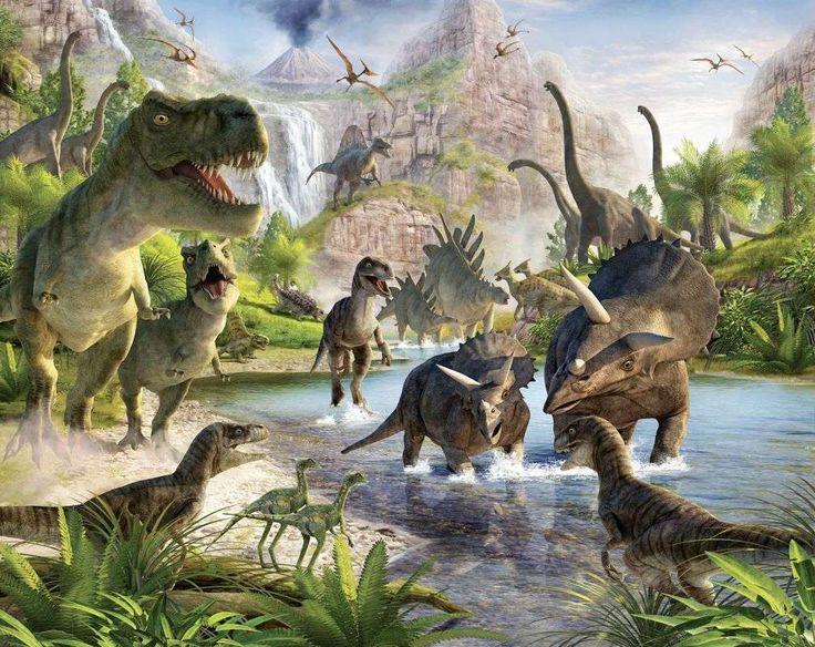 Tapeten Wandbilder für Kinder - Walltastic - Dinosaurier Land