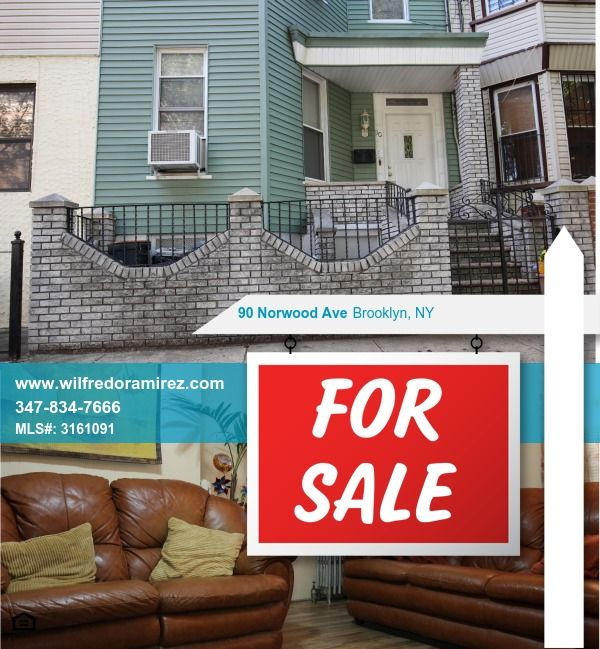 2 Family House At 90 Norwood Ave Brooklyn Ny 11208 1st Floor 2 Bedrooms Full Bathroom Kitchen Living Dining Room Norwood Woodhaven Living Dining Room