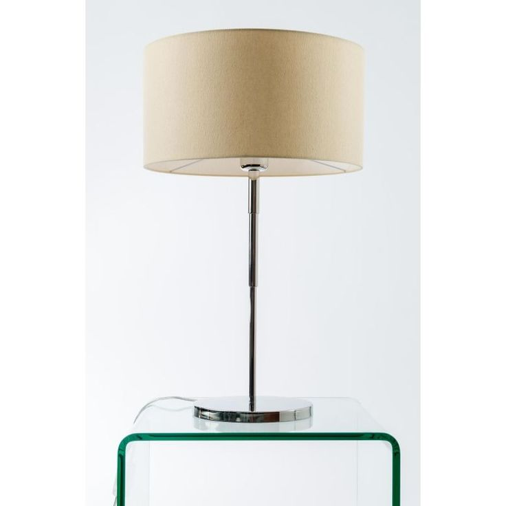 Simple and elegant lines from this polished chrome cullen table lamp a stepped