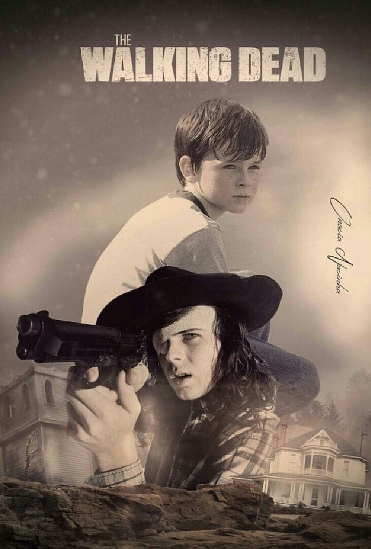 Carl Grimes From Boy To Man With Images Walking Dead