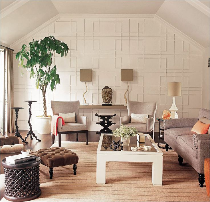 This Geometric Wall Treatment Is So Fine It Almost Looks Like Wallpaper! Living  Room ... Part 40