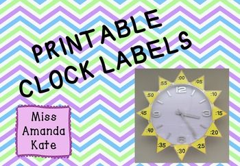 Learn to tell the time Clock Labels - Stick on Analogue Clock to learn Digital Time