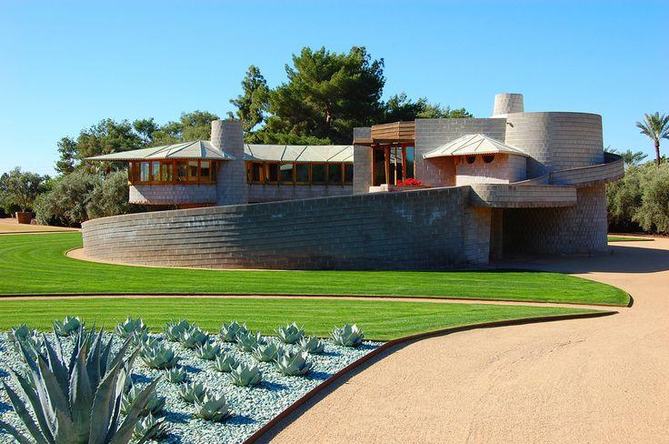 David & Gladys Wright Residence. 1950. Phoenix Arizona. Usonian. Frank Lloyd Wright.. Photo James Butler