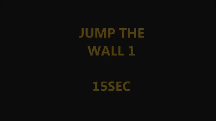 Jump the wall 1 basic  Some way to jump a small wall. Parkour time #15secworkout