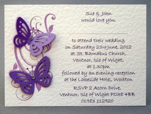 Inviti al matrimonio fai da te