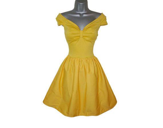 Adult Princess Belle Yellow Fancy Dress Costume (UK 10) (US 6) (EUR 38) Ladies Womens Beauty Ball Gown