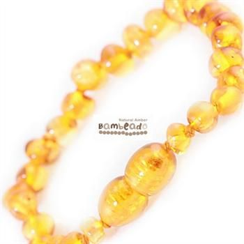 This might help with your baby teething or of if your baby has eczema.This amber bracelet is a great alternative to slip on underneath clothing while your child is sleeping and can be purchased as a matching set with your amber necklace. Amber bracelets are designed to be worn and not chewed. Each amber bracelet has been carefully handcrafted with your babies safety in mind. Each amber bead is carefully rounded and polished to be comfortable against your childs skin.