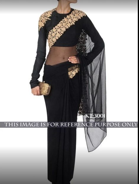 Indian Designer Bollywood Ethnic Saree Wedding Party Wear Georgette Saree blouse #Handmade #Lehengacholi
