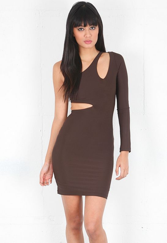 Boulee ciara dress in chocolate designed by boulee
