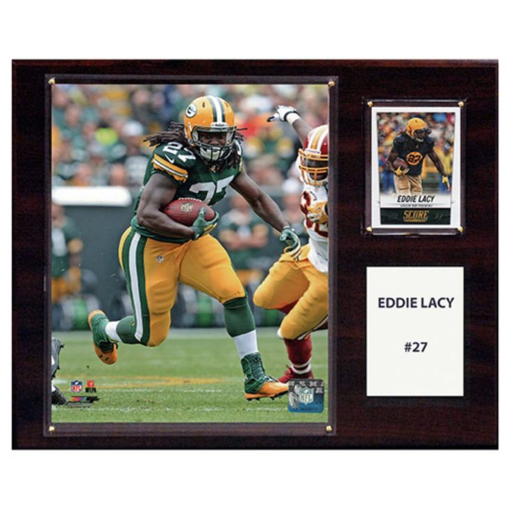 C and I Collectables NFL 15W x 12H in. Eddie Lacy Green Bay Packers Player Plaque - 1215LACY