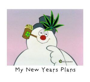 Stoned Frosty Snowman Happy New Years Plans Smoke Weed Memes #weedmemes #cannabis #stoners #marijuana #potheads #kush #happynewyear #kush