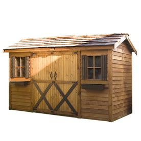 Cedarshed Longhouse 16 Ft X 8 Ft Gable Cedar Storage Shed (Actuals 15.91
