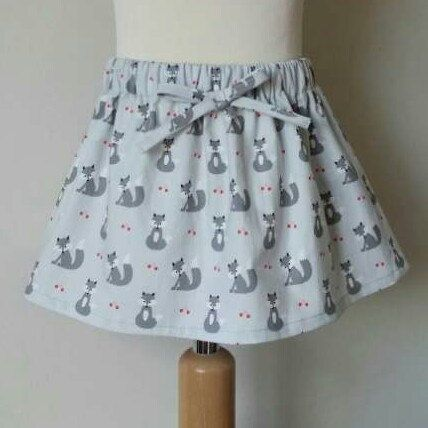 New listing added to my shop today. Cute little fox skirt perfect for autumn/ winter