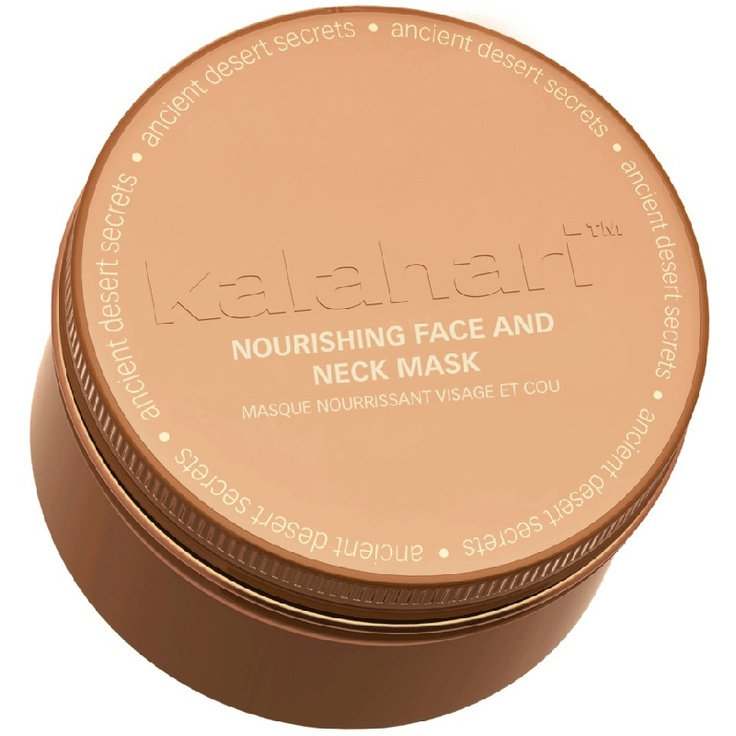 Kalahari Nourishing face and neck mask.  A unique 'souffle' face and neck mask to revitalize, hydrate and nourish a dry taut skin.