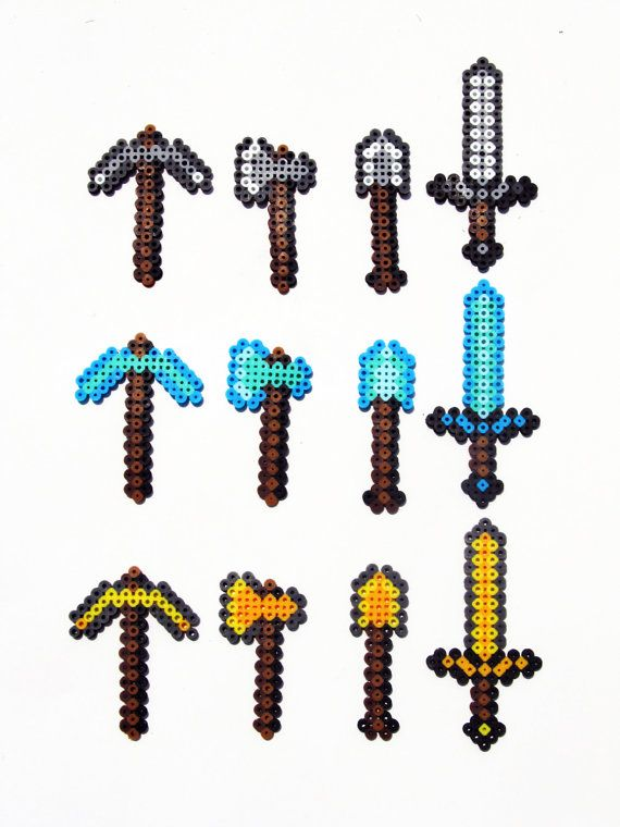 Minecraft Perler Tools by ShowMeYourBits on Etsy, $4.00