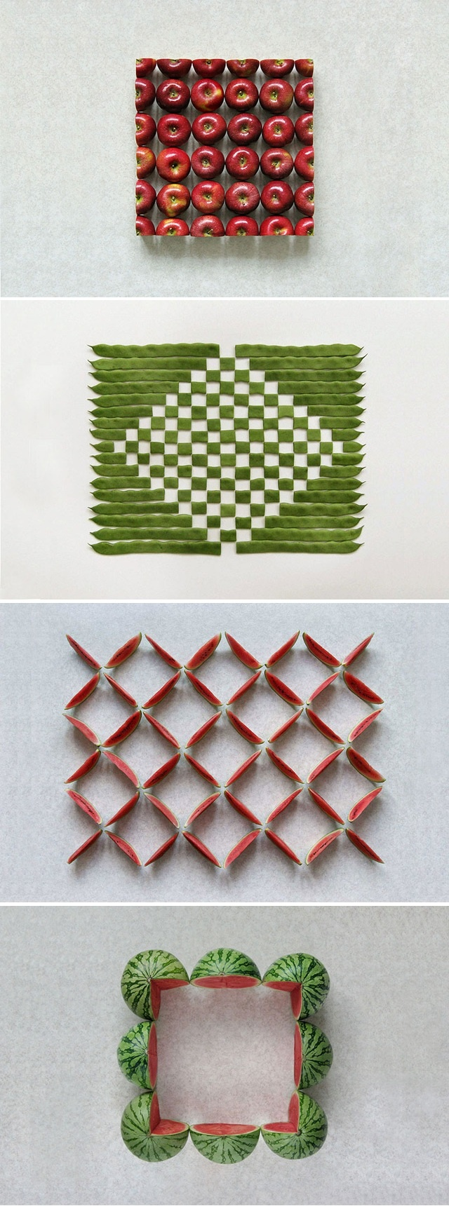 Geometric Food Art by Sakir Gokcebag
