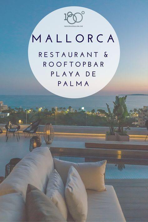 Katagi Blau Dachterrasse Restaurant Rooftopbar Hotel Llaut Palace Playa de Palma Mallorca