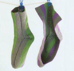 iKnitts: Como tejer los increíbles calcetines japoneses (dos agujas)