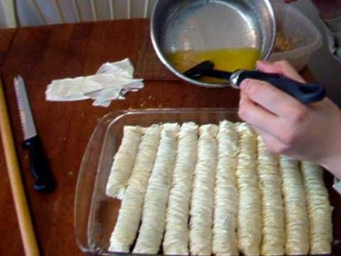 BAKLAVA ROLLS - It's easier than making squares