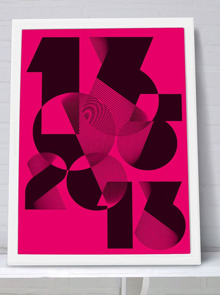 Spiro Neon Pink edition - Personalised print from MAYKI