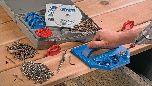 $79.50 This jig lets you counterbore screws into the edges of decking to produce a surface free of exposed fasteners.