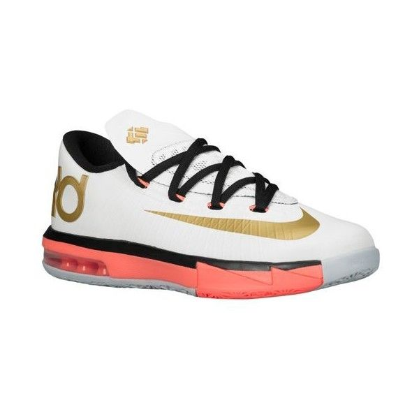 Nike KD VI Boys\u0027 Grade School ($100) ? liked on Polyvore featuring shoes