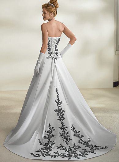 34 best wedding dresses images on pinterest wedding frocks back to black flower wedding dress mightylinksfo