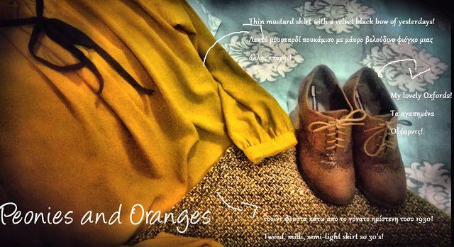 peonies and oranges