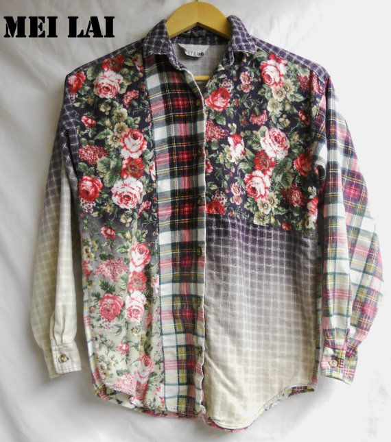 Floral Bleached Flannel by MeiLai on Etsy, $40.00
