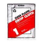 Premier 9 ft. x 12 ft. 1 mil Plastic Drop Cloth (24-Pack), Clear