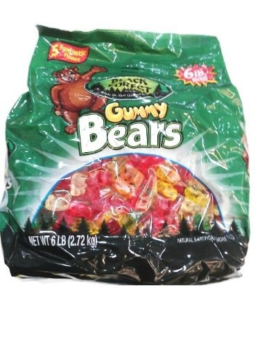 Black Forest Gummy Bears Ferrara Candy, Natural and Artificial Flavors, 6 Pound by Black Forest, http://www.amazon.com/dp/B000JZEABG/ref=cm_sw_r_pi_dp_2V-grb000BDF2