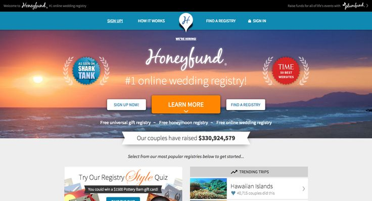 TOP Honeymoon Registry Fund Websites | Reviews and Guides to choose the best one for you | Venuelust