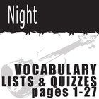 NIGHT Vocabulary List and Quiz (30 words, pgs 1-27)  These 30 vocabulary words from pages 1-27 of NIGHT will help students engage in the language o...