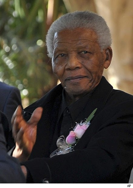 Nelson Mandela Attends Great-Granddaughter's Funeral