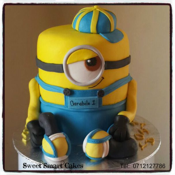 3D MINION CAKE For more info & orders, email SweetArtBfn@gmail.com or call/whatsapp 0712127786 (CAKE DECORATING CLASSES AVAILABLE)