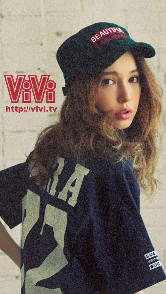 ViVi2013年10月号スマホ壁紙(藤井リナ)
