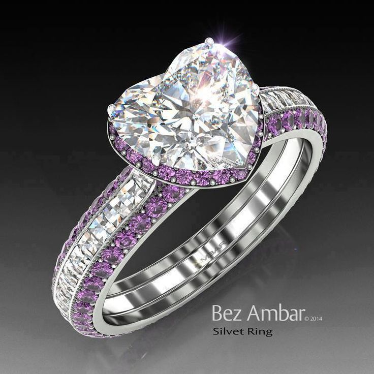 Best 25 heart wedding rings ideas on pinterest promise ring the most beautiful amethyst engagement ring you will love it junglespirit Choice Image