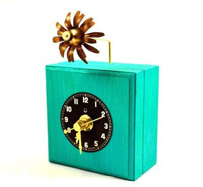 Desk Clock, Small Clock, Wood Clock, Rustic, Steampunk, Home Decor by Chanchala on Etsy https://www.etsy.com/listing/180569422/desk-clock-small-clock-wood-clock-rustic
