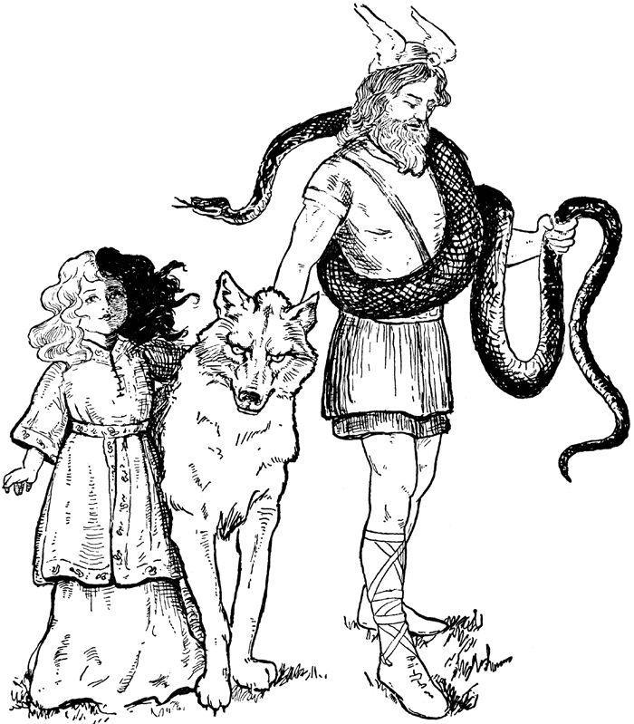 Pages Liking Vikings Heathenism Pinterest Kids Coloring