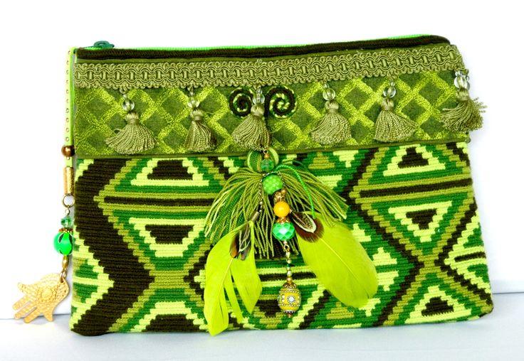 Wayuu Mochila greens