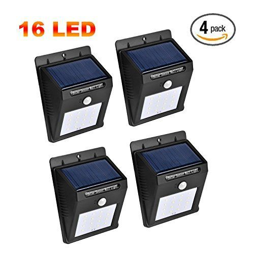 Solar Lights Outdoor 16LED Solar Motion Light Sensor Detector Solar Patio Lights Weatherproof Wireless Motion Sensor Light with Auto OnOff for Patio DeckGardenYardDrivewayStreet 4pack -- Want to know more, click on the image.