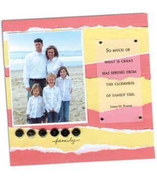 """8"""" x 8"""" Family Ties Scrapbook Page"""