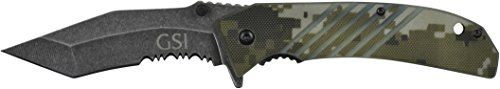 GSI Inc. Camo Foxtrot Folding Knife. HRC 53-55 Steel. *** Check out this great product.