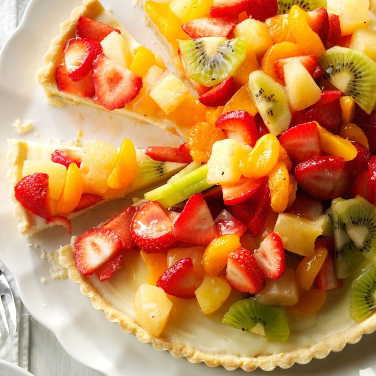 White Chocolate Fruit Tart Recipe -It takes a little time to make, but this tart is absolutely marvelous, especially in summer when fresh fruit is in abundance. —Claire Darby, New Castle, Delaware