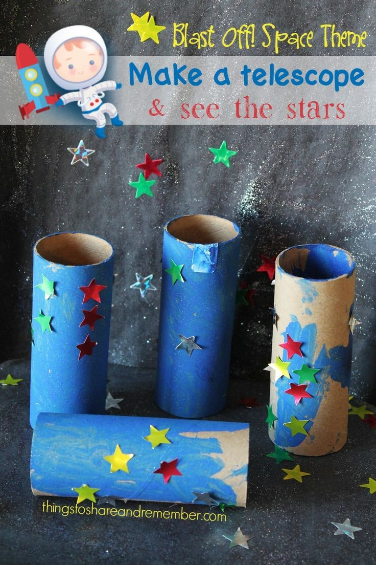 Learning About the Stars?  Cute toddler telescope craft
