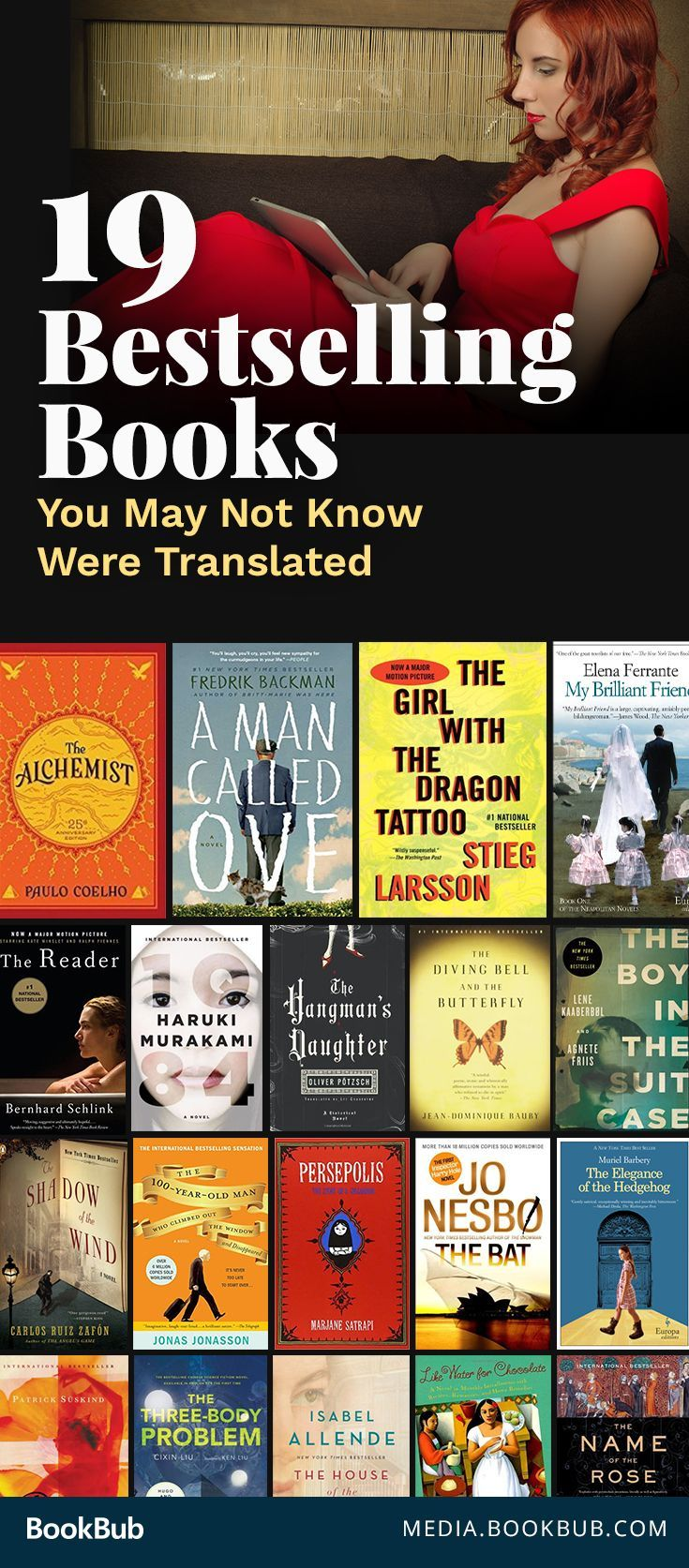 19 bestselling books to read that were translated into English, including some modern classics. Don't miss these books worth a read. | international books to read | book list | reading list