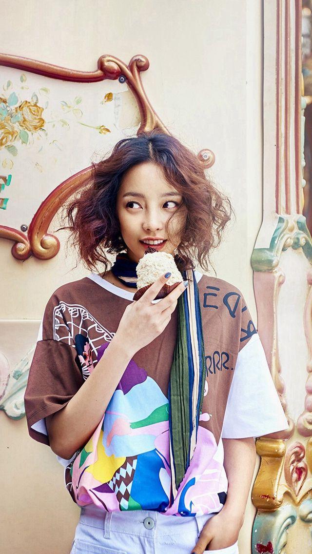 Kpop Kuhara Dessert Eating Cute iPhone 5s wallpaper
