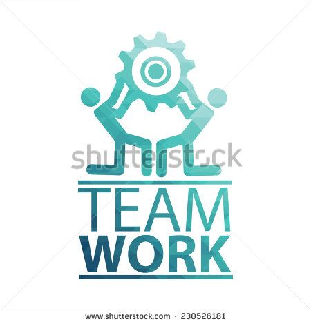 Team Work Illustration over white color background