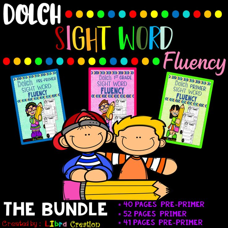Dolch Sight Word Fluency, The Bundle  This Bundle Include : * 40 Pages Dolch Pre Primer * 52 Pages Dolch Primer * 41 Pages Dolch First Grade   Preschool, Preschool Worksheets, Kindergarten, Kindergarten Worksheets, First Grade, First Grade Worksheets, Sight Word, Sight Word Activities, Sight Word Activities The Bundle, Bundle, Sight Word, Sight Word Printables